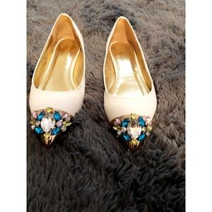 LILIANA White Gem Flats
